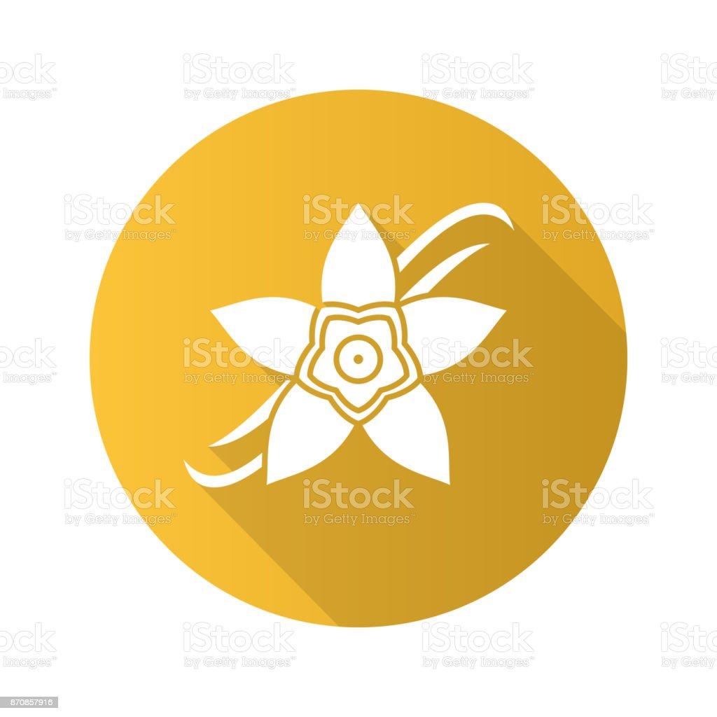 Vanilla flower icon vector art illustration
