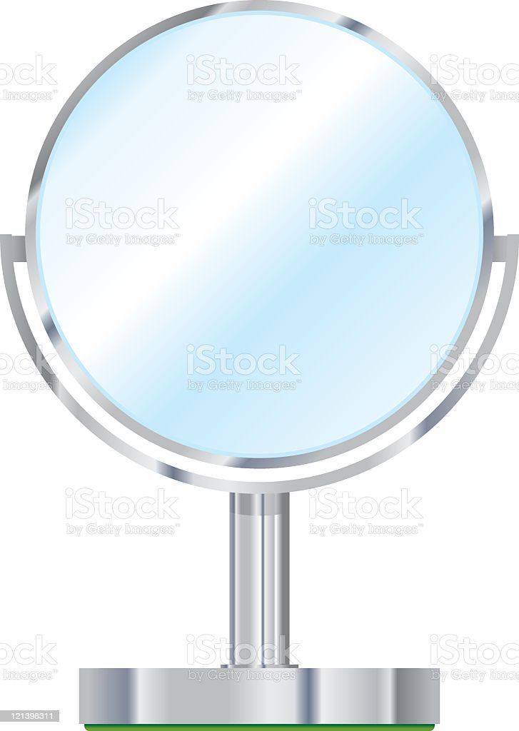 Vanity Mirror vector art illustration