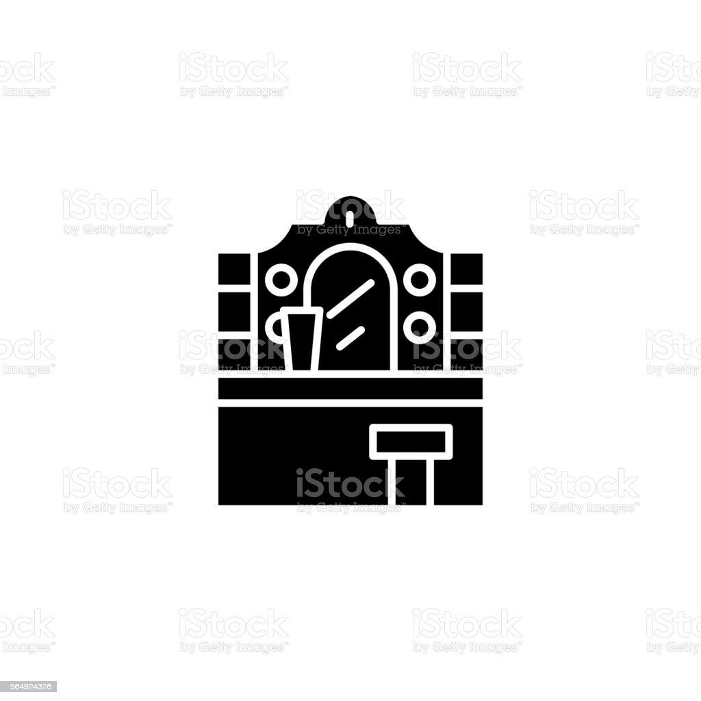 Eitelkeit Tischkonzept Schwarze Symbol Eitelkeit Tabelle Flach ...