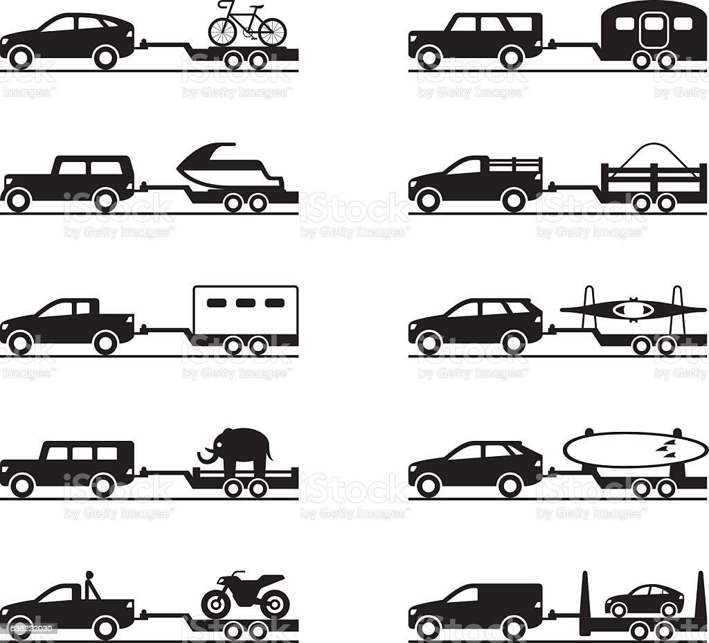motorhome car trailers