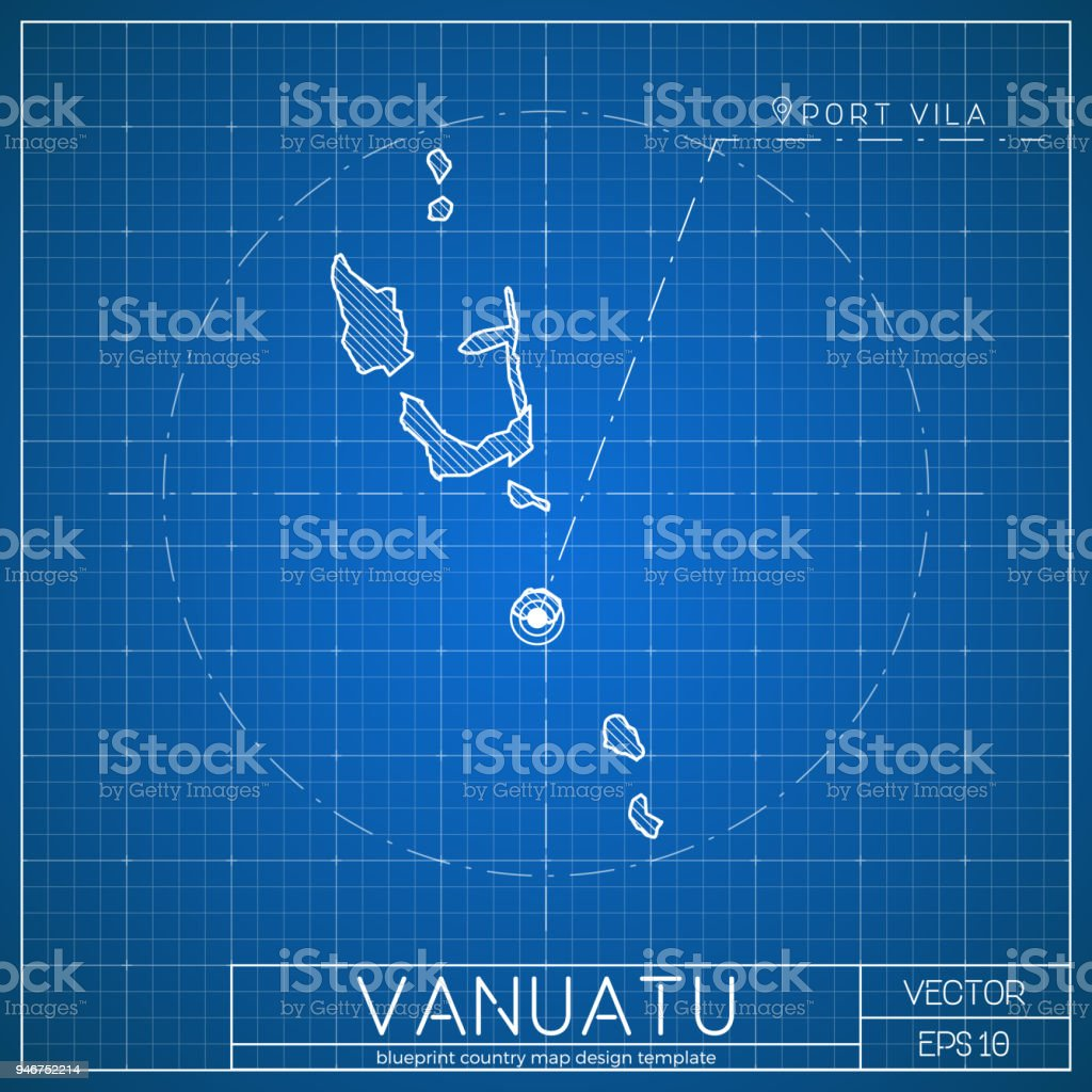 Vanuatu blueprint map template with capital city stock vector art vanuatu blueprint map template with capital city royalty free vanuatu blueprint map template with malvernweather Choice Image