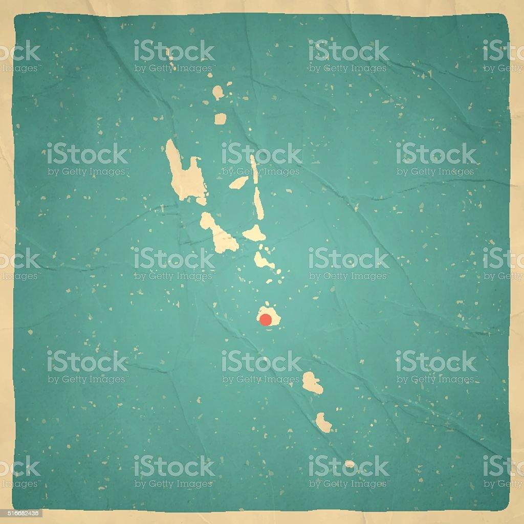 Vanuatu Map On Old Paper Vintage Texture Stock Vector Art More