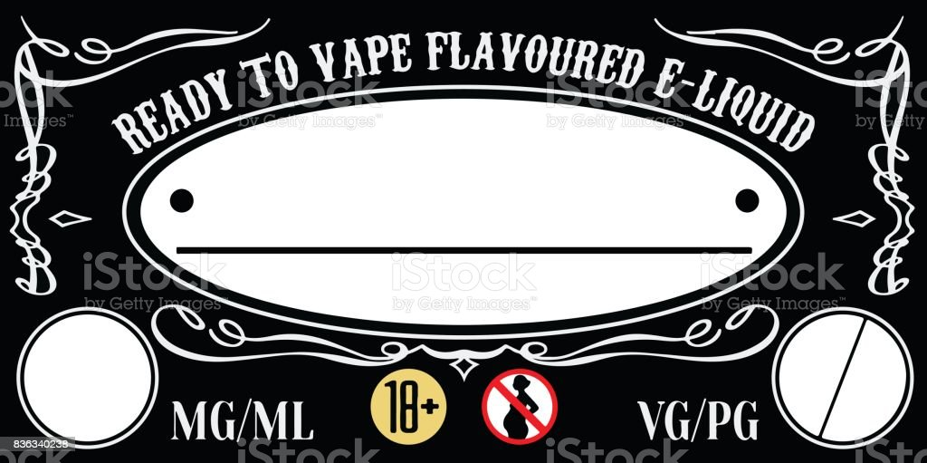 vape eliquid ejuice label template stock vector art more images of electronic cigarette. Black Bedroom Furniture Sets. Home Design Ideas