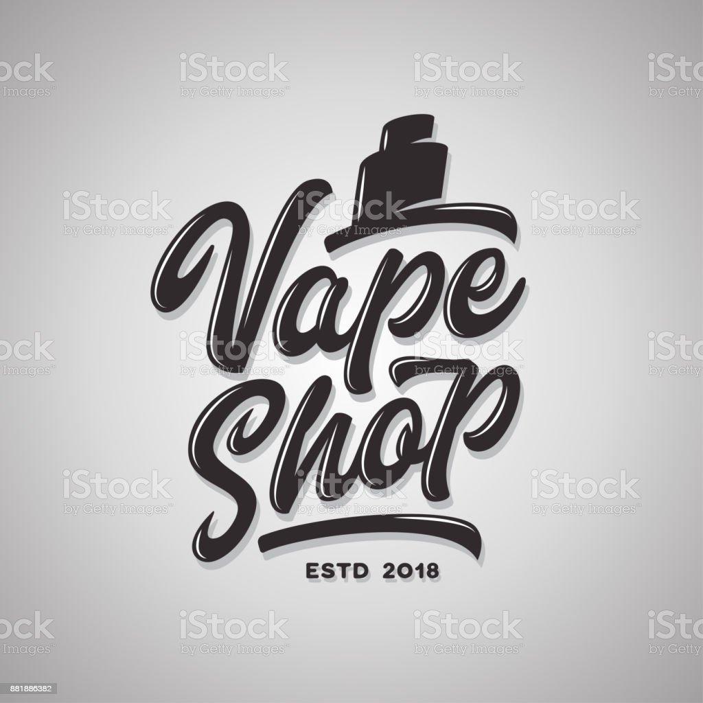 Vaporizer Shop Typografie Vorlage Vintage Schriftzug Vektorgrafik ...