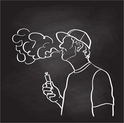 Vaping Versus Smoking Tobacco Chalk