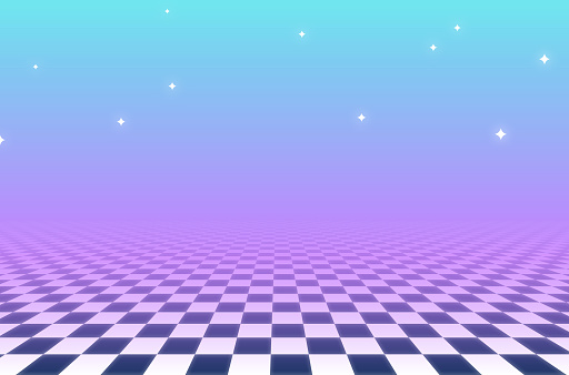 Vaporwave Abstract Checkered Background