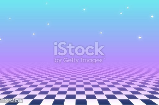 istock Vaporwave Abstract Checkered Background 1204024766