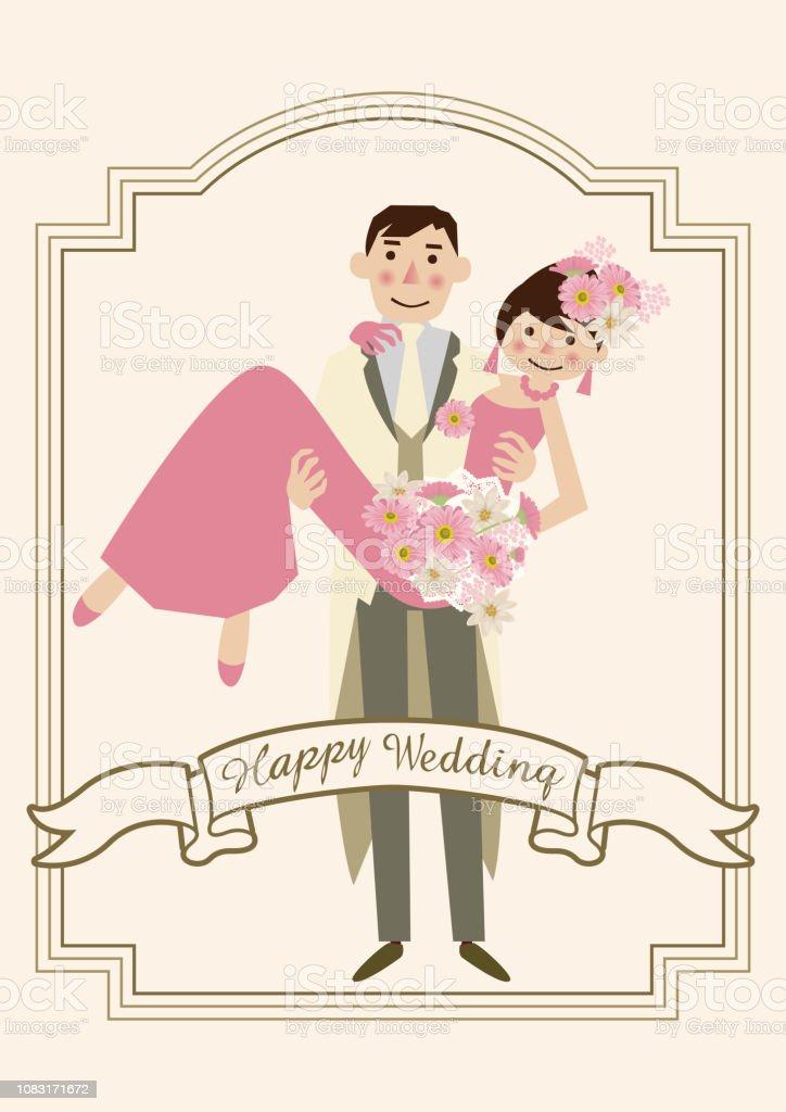 Bekend Variaties Op Bruiloft Kaarten Bruiloft Kaart Materiaal Illustratie #EO89