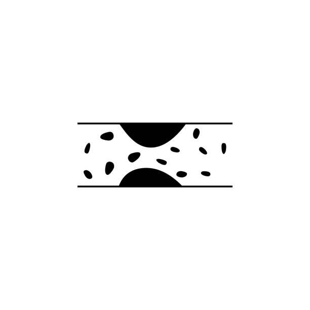 ilustrações, clipart, desenhos animados e ícones de ícone de varizes. elementos de ícone de problemas de obesidade. ícone de design gráfico de qualidade premium. simples ícone para sites, design web, mobile app, gráficos de informação - colesterol
