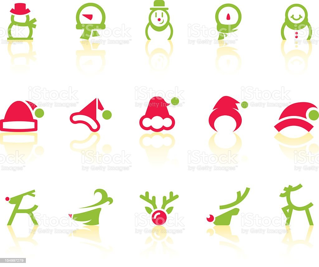 Variety Of Christmas III Icons | Simple Series royalty-free stock vector art