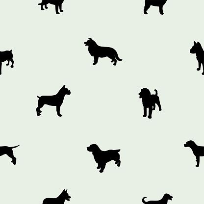 Variety Of Dogs Seamless Pattern