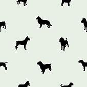 A pattern of many dog breeds
