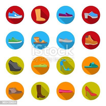 f22cc0fd6 ᐈ Imagen de Una gran variedad de zapatos de delinear iconos de ...