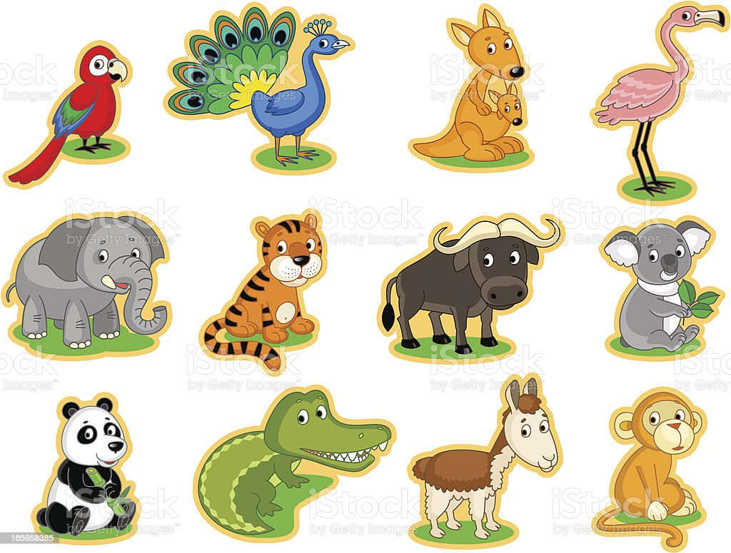 Various animals and birds royalty-free stock vector art