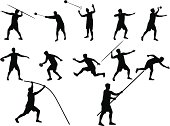 various athletics disciplines silhouettes