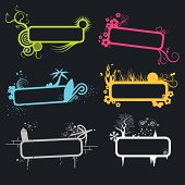 Vector banners with various designs.