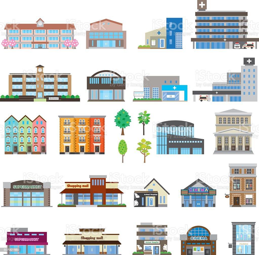 さまざまな建物 アイコンのベクターアート素材や画像を多数ご用意 Istock