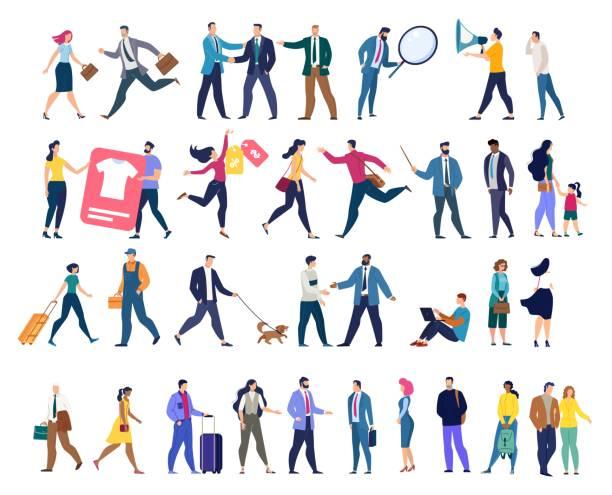 ilustrações, clipart, desenhos animados e ícones de vário jogo do vetor dos caráteres dos businesspeople - business man
