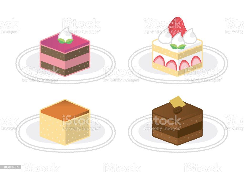 Verschiedene Kuchen Stock Vektor Art Und Mehr Bilder Von