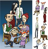 Various Characters Set-up for Family Portrait