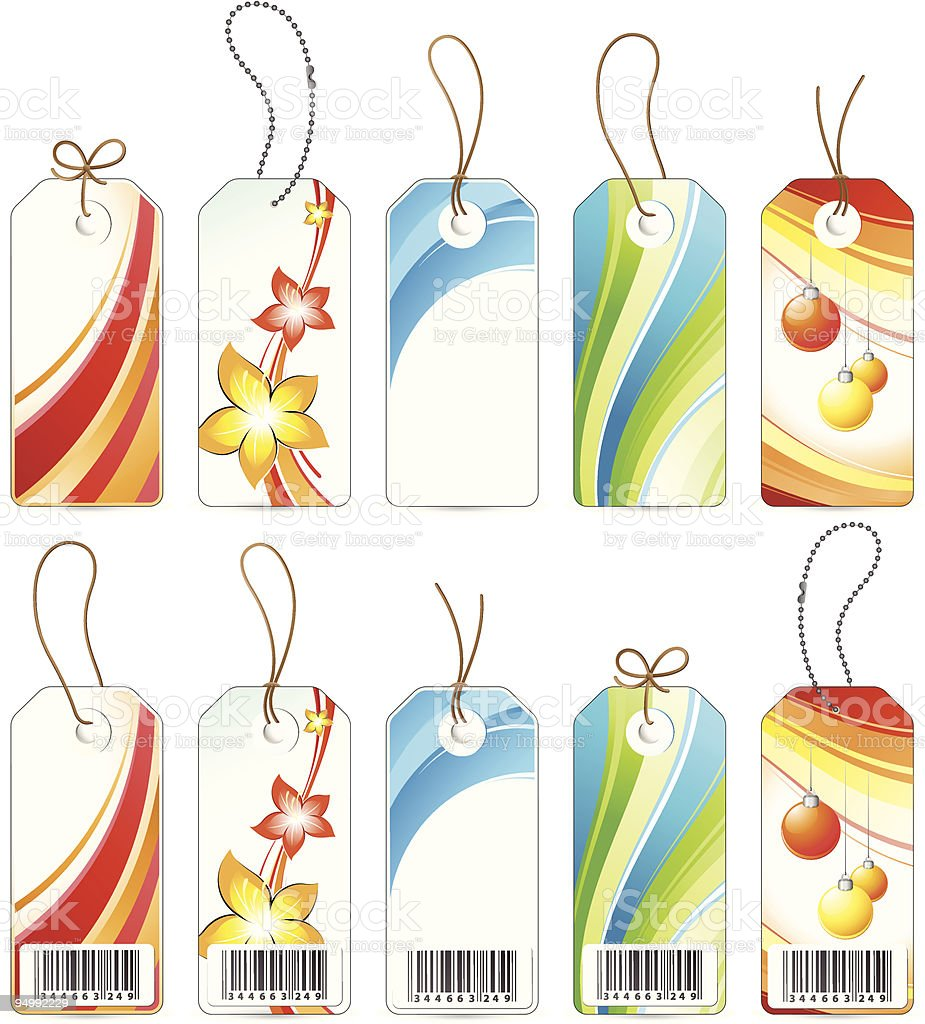 Various coloured labels royalty-free stock vector art