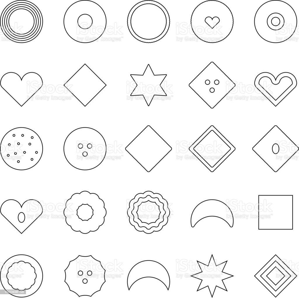 Verschiedene Cookies, x-mas, Färbung Vorlage – Vektorgrafik