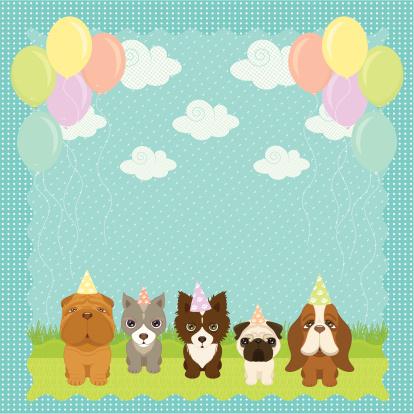 A Puppies Birthday Party- 25x25cm 300dpi jpg incl.