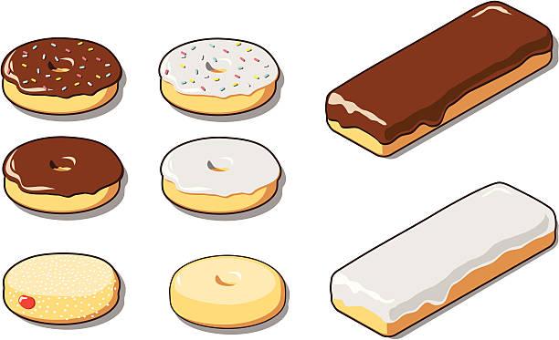 Various Donuts vector art illustration