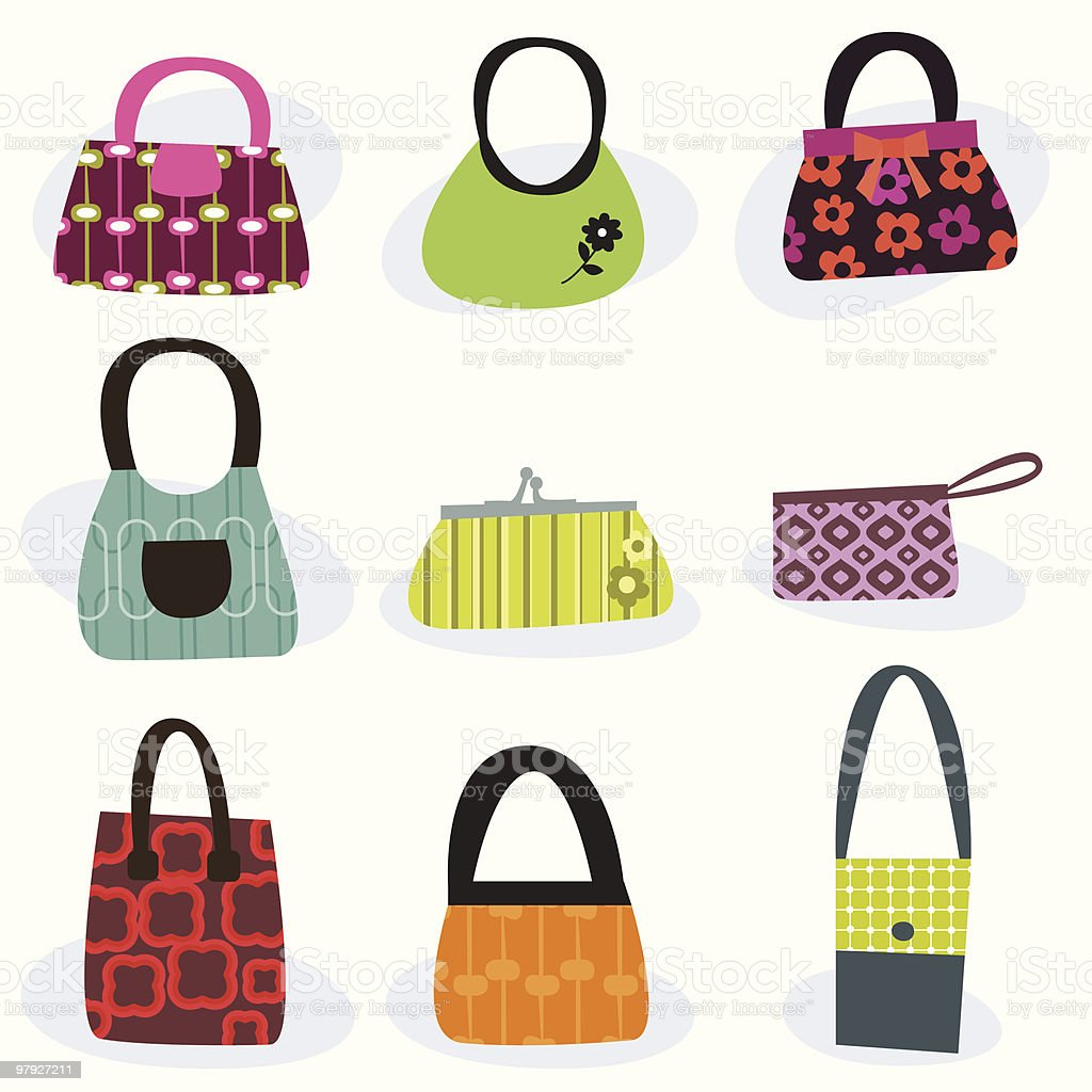 Various  fashion bags royalty-free various fashion bags stock vector art & more images of bag