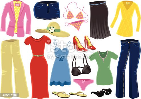 Various female clothing items