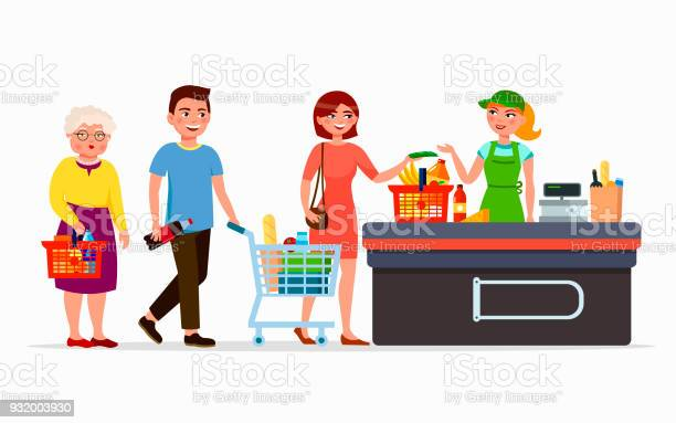 Various flat people at the supermarket buying products at the cashbox vector id932003930?b=1&k=6&m=932003930&s=612x612&h=dl7ef5lqg holdnn o t6gluvqem4mllonfldxwidkc=