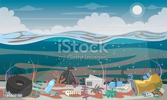 istock Various Garbages In The Seabed 1181046169