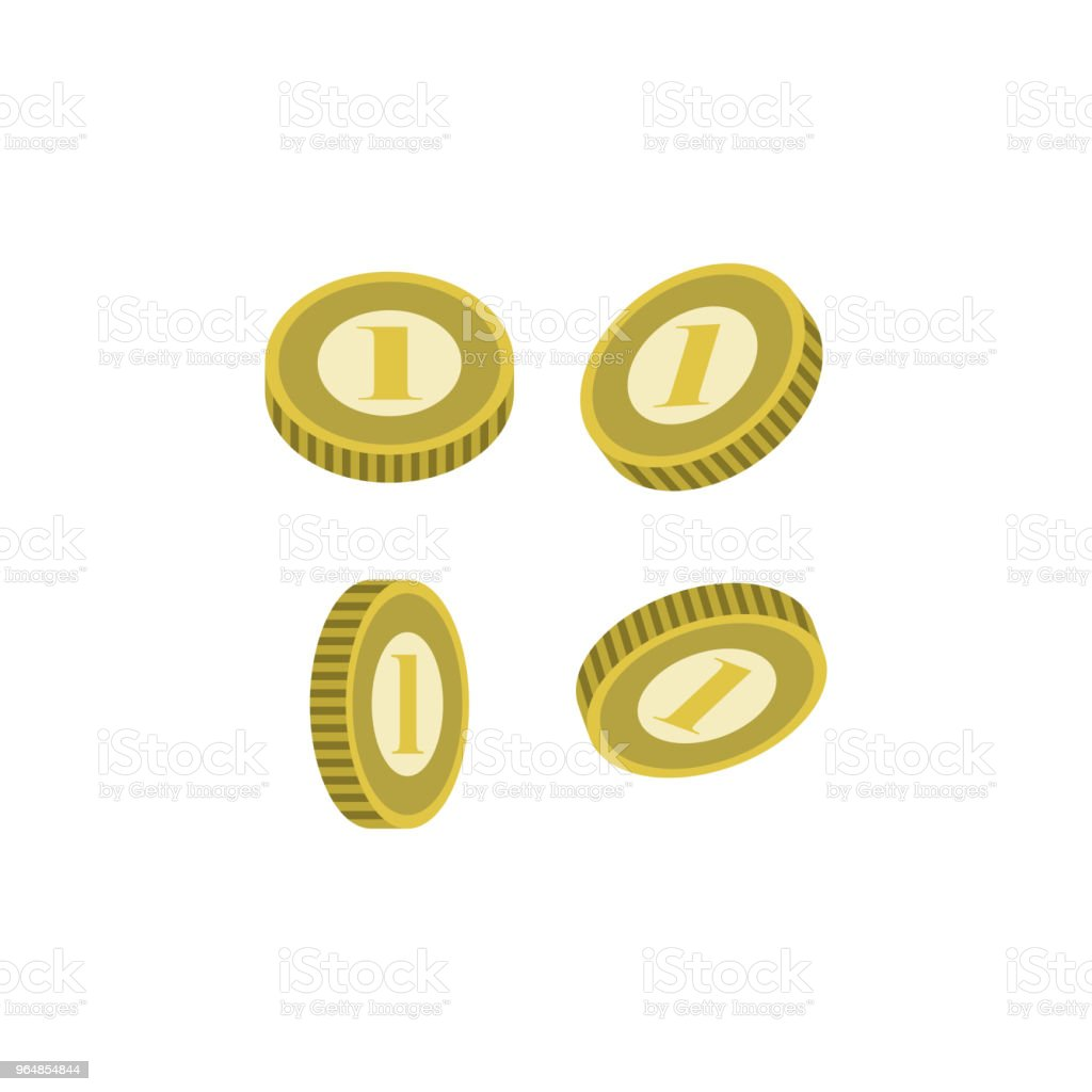 Various Golden Coins Isolated Icon Stock Vector Art & More Images of Abundance