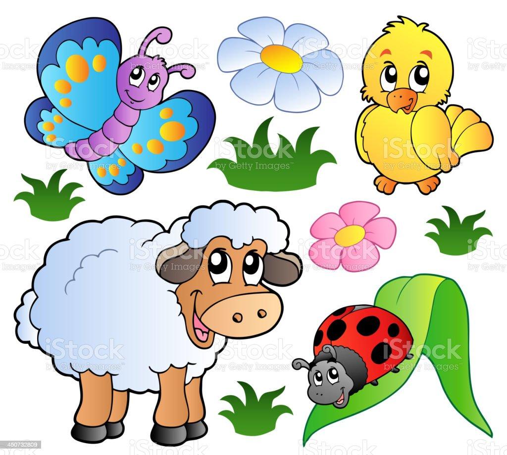 さまざまな春の動物 - イラストレーションのベクターアート素材や画像を