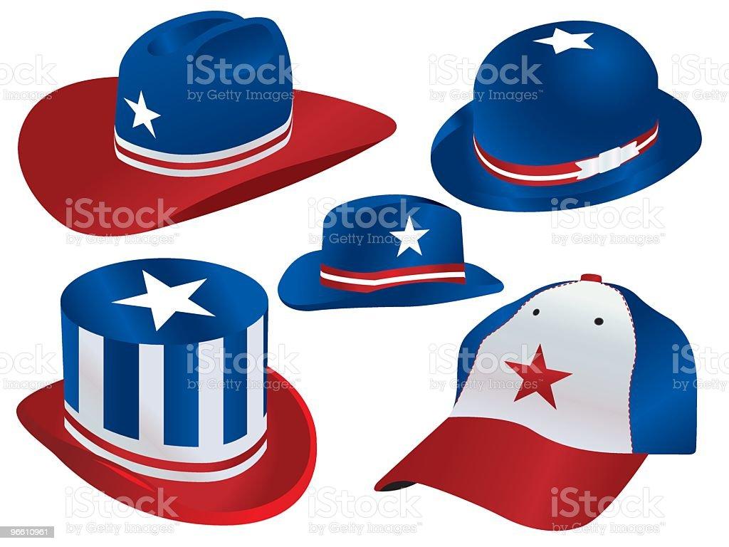 Various hats - Royaltyfri Alternativ vektorgrafik