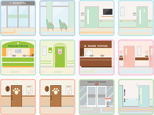 さまざまな病院 - 診察室点のイラスト素材/クリップアート素材/マンガ素材/アイコン素材