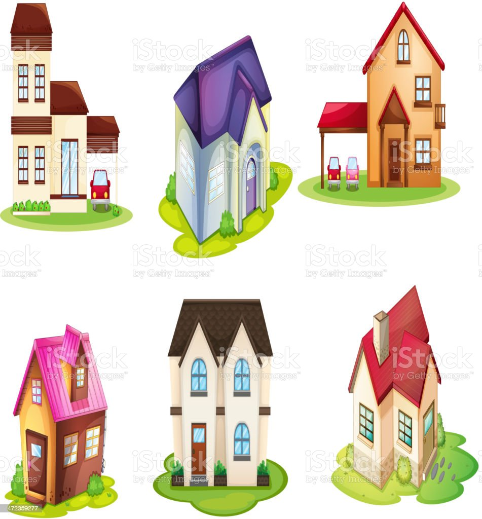 Various houses royalty-free stock vector art