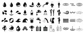 Various icon set related to water