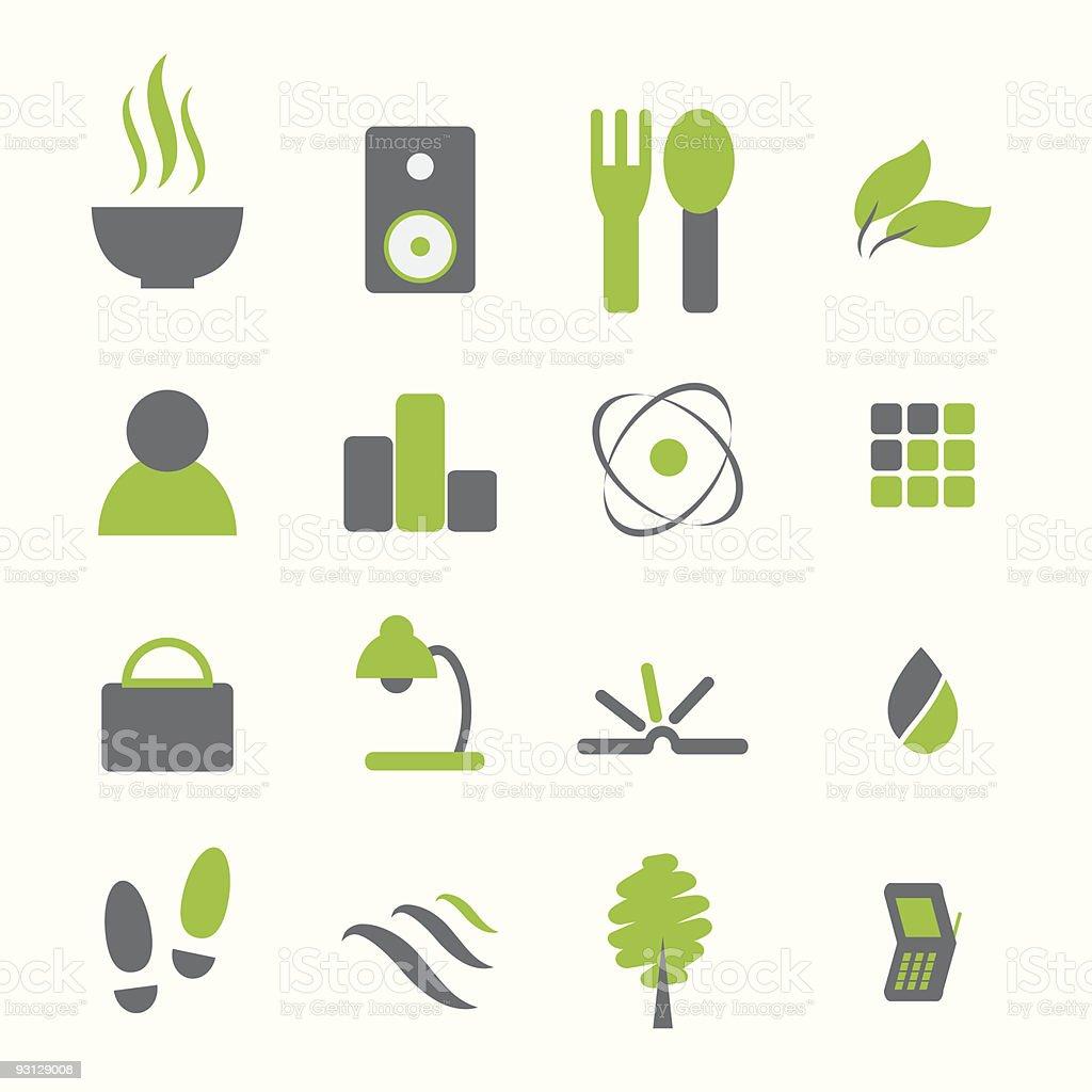 Various icon set royalty-free stock vector art