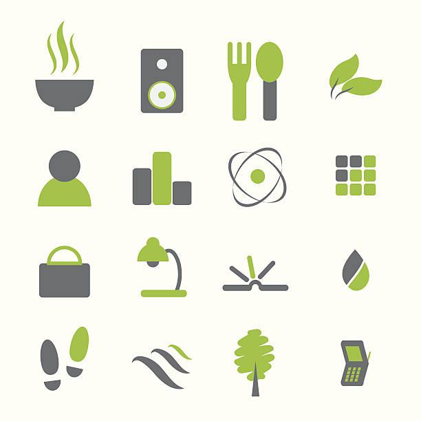 Various icon set vector art illustration