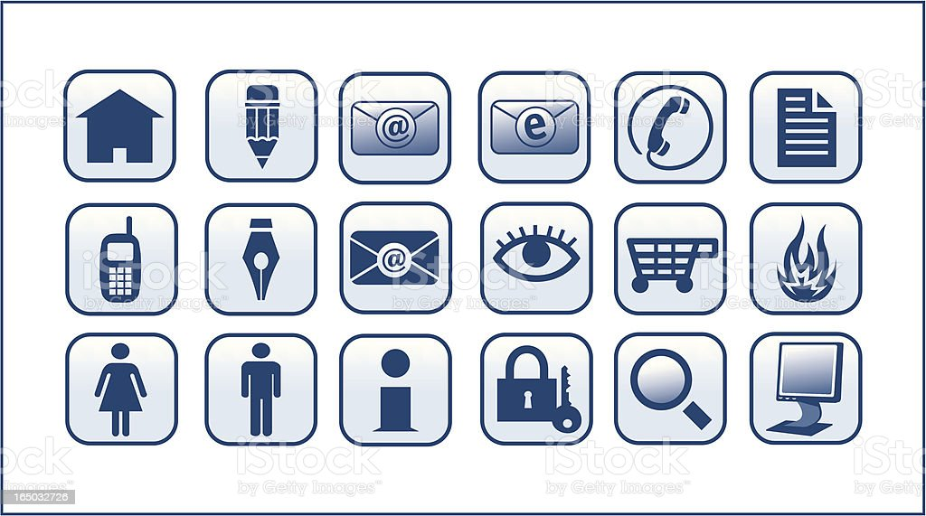 Various Icons and Symbols royalty-free stock vector art