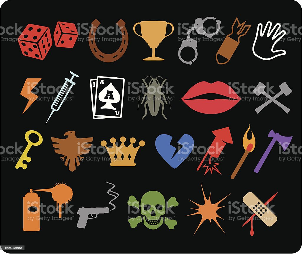 Various Icons I royalty-free various icons i stock vector art & more images of ace