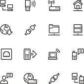 Various icons related to communications