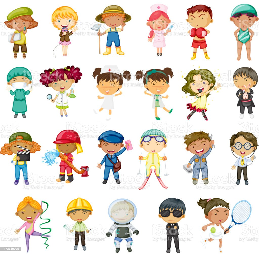 Various illustrations of different professionals royalty-free various illustrations of different professionals stock vector art & more images of artist