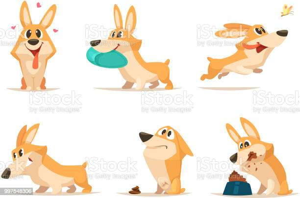 Various illustrations of funny little dog in action poses vector id997548306?b=1&k=6&m=997548306&s=612x612&h=ezczc3cdril0xk0k1mndip umlwcjtliup plbvt3eu=
