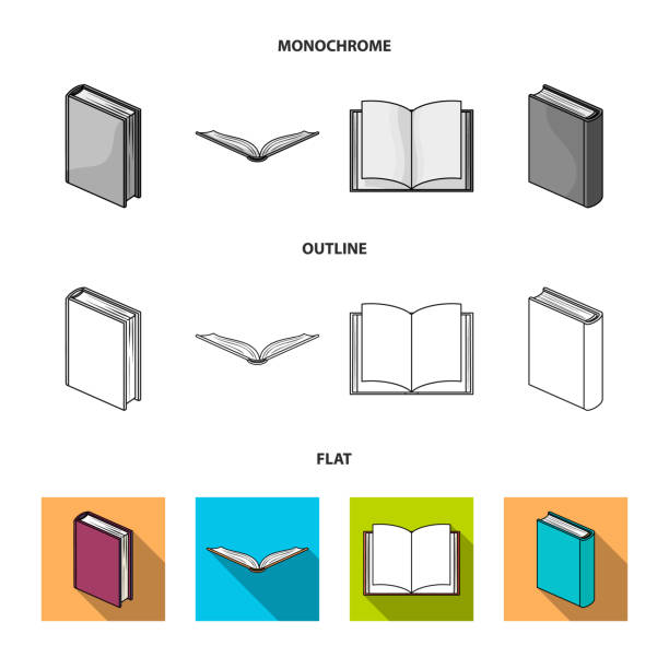 Grafika wektorowa, ikony, ilustracje Closed Book na ...