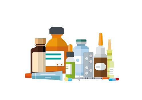 Various kinds of medication grouped together.