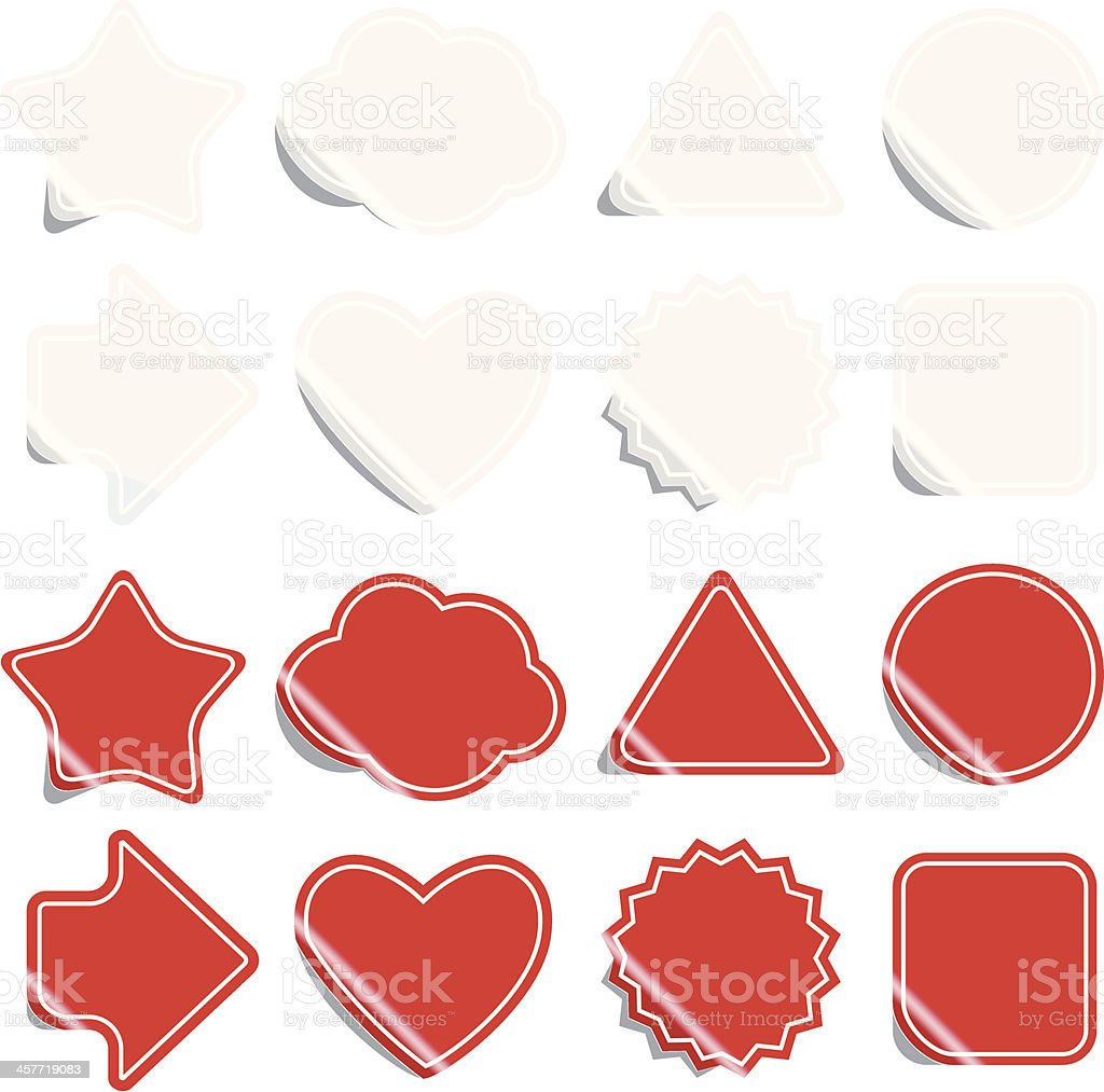 Various labels / stickers royalty-free stock vector art