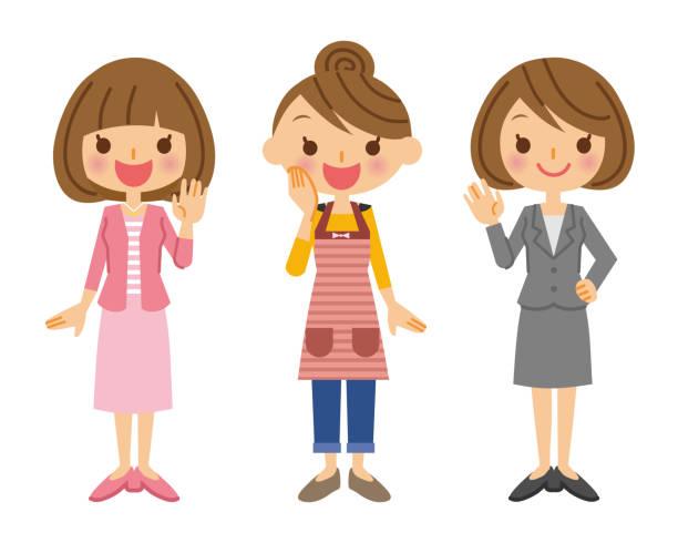 様々 な女性。 - 主婦 日本人点のイラスト素材/クリップアート素材/マンガ素材/アイコン素材