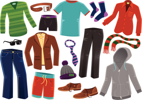 Various male clothing items